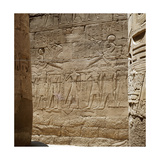 Amun in His Sacred Boat Carried by the Spirits of Pe and Nekhen Giclee Print
