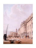 The Custom House, from 'London as it Is Drawn from Nature' 1842 Giclee Print by Thomas Shotter Boys