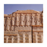 A Detail of a Relief Carving on the Staircase Leading to the Tripylon at Persepolis, Depicting… Giclee Print
