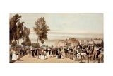 Hyde Park, Towards the Grosvenor Gate from 'London as it Is Drawn from Nature', 1842 Giclee Print by Thomas Shotter Boys