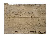 Relief from a Processional Colonnade of Ramses II in His Temple at Luxor, Showing Part of… Giclee Print