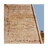 Relief from the Temple of Ramesses III at Medinet Habu Depicting Two Panels with Hunting Scenes… Giclee Print