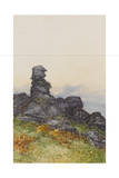BowermanS Nose, Manaton Dartmoor , C.1895-96 Giclee Print by Frederick John Widgery