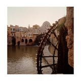 The Noria Water Wheel and Dam, Hama Giclee Print