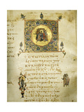 An Illuminated Page from the Gospel of St John Giclee Print