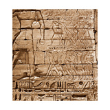 Relief from the Temple of Ramesses III at Medinet Habu Giclee Print