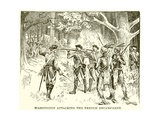 Washington Attacking the French Encampment Giclee Print