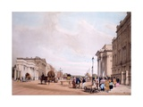 Hyde Park Corner, Looking Down Piccadilly, from 'London as it Is Drawn from Nature' 1842 Giclee Print by Thomas Shotter Boys