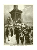 Nelson Day : Scene in Trafalgar Square, London Giclee Print