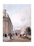 The Board of Trade, Whitehall, from Downing Street, from 'London as it Is Drawn from Nature', 1842 Giclee Print by Thomas Shotter Boys