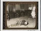 Police Station Lodgers 19. the Single Typhus Lodger in Eldridge Street, He Lay by the Stove in… Photographic Print by Jacob August Riis