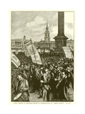 "Public Meeting in Trafalgar Square in Commemoration of ""Bloody Sunday"" Giclee Print"