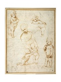 Studies for the 'Madonna of the Meadow', C.1505 Reproduction procédé giclée par  Raphael