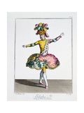 Costume Design for Silphe in the Ballet of the Elements, Late 18th Century Giclee Print by Jean-Baptiste Martin