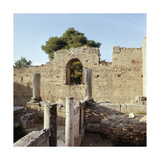 Remains of Early Christian Basilica Built on Top of Pheidias' Workshop in Olympia Giclee Print
