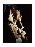 Bust from a Colossal Statue of Akhenaten, One of a Series Depicting the King in Various Guises… Giclée-tryk