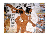 Part of a Banquet Scene from the Tomb of Nebamun Giclee Print
