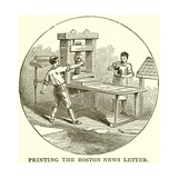 Printing the Boston News Letter Giclee Print