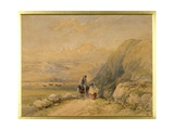 Friendship in the Welsh Hills Giclee Print by David Cox