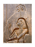 The Goddess Seshat, Personification of Writing, Shown in the Act of Inscribing the Palm Leaf Rib… Giclée-Druck