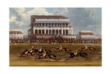The Grand Stand at Epsom Races, Print Made by Charles Hunt, 1836 Giclee Print by James Pollard