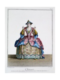 Chinoise, from the 'Ballet Des Indes Galantes', Late 18th Century Giclee Print by Jean-Baptiste Martin