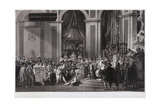 The Consecration of the Emperor Napoleon I and the Coronation of the Empress Josephine in the… Giclee Print by Jean Pierre Marie Jazet