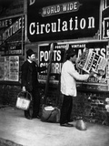 Street Advertising, from 'Street Life in London', by J. Thomson and Adolphe Smith, 1877 Photographic Print by John Thomson