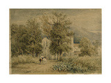 Valle Crucis Abbey Giclee Print by David Cox