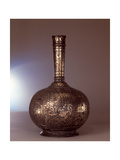 A Bottle (Surahi) Inlaid with a A House and Garden Scene Giclee Print