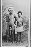 A Kanak and His Wife, Tribe of Canala, New Caledonia Photographic Print