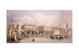 London Bridge, 1835 Giclee Print by George Pyne