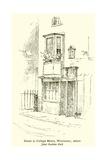 House in College Street, Winchester, Where Jane Austen Died Lámina giclée