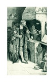 James IV as an Alchemist in His Laboratory Giclee Print by Walter Stanley Paget