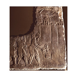 Fragment of a Relief Showing Assyrian Soldiers Cutting a Well Rope of a Besieged City Giclee Print