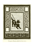 Pompeian Mosaic, Called the Cave Canem Giclee Print