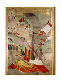 Page from the Sahansahname, a Chronicle of Ottoman Sultans, Written by Loqman, Probably… Giclee Print