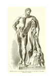 Hercules, known as the Farnese, Found at Rome in the Baths of Caracalla Giclee Print