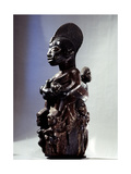 A Shrine Figure for Orisha Oko, the Deity Associated with Farming, Depicting a Woman with a… Giclee Print