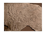 Detail of a Relief Showing Assyrian Troops Crossing a River with a Chariot on a Float Giclee Print