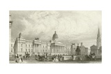 The New National Gallery, Trafalgar Square, London Giclee Print by Thomas Hosmer Shepherd