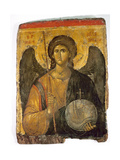 An Icon with the Image of the Archangel St Michael Holding a Staff and a Globe Surmounted by the… Giclee Print