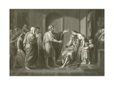Banishment of Cleombrotus Giclee Print by Benjamin West