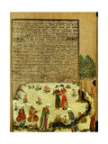 The Introductory Miniature to Ferdausi's 'Book of Kings' (Shah-Nameh) Showing the Unknown Poet… Giclee Print