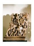 Wood Carving of Warrior Prince on Horseback, Part of a Processional Chariot Giclee Print
