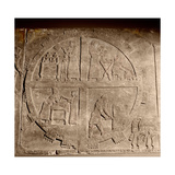 Carved Slab from the Southern Wall of the Throne Room at Nimrud, Depicting the Camp of King… Giclee Print