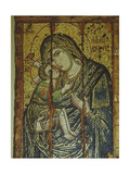 "An Icon of the Virgin and Child known as the """"Glykophilousa"""" or Sweetly-Embracing Type Giclee Print"