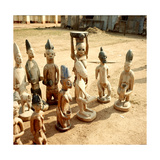 A Shrine of Shango, the Yoruba God of Thunder Furnished with Figures of Women Devotees Giclee Print