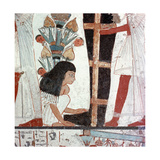 A Detail of a Painting of a Funeral Ceremony from the Tomb of Nebamun and Ipuki, Sculptors to… Giclee Print