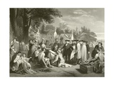 William Penn's Treaty with the Indians Giclee Print by Benjamin West